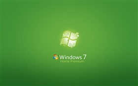 Windows 7 Home Premium, зеленый фон HD обои