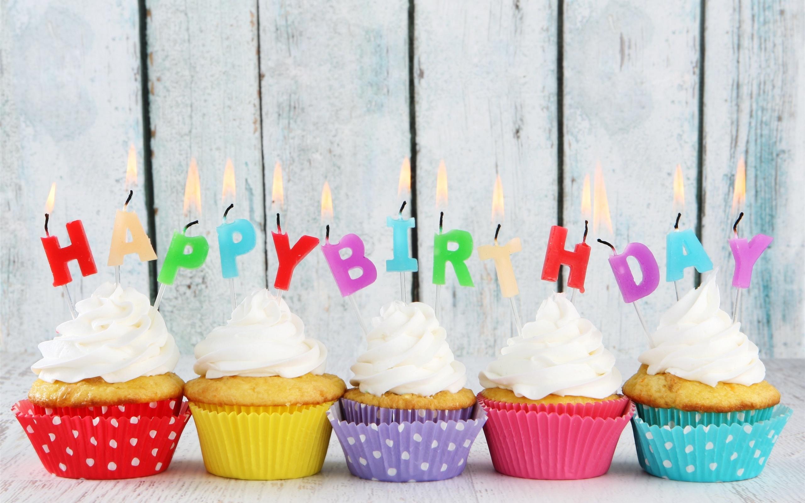 Открытка с днем рождения кекс 13