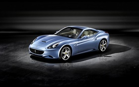 Ferrari California 2008 синий суперкар HD обои