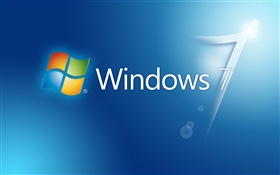 Windows 7 синий фон, блики HD обои